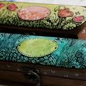 2db Névre szóló , feliratos kézzel festett tolltartó, Képzőművészet, Dekoráció, Festett tárgyak, Fotó, grafika, rajz, illusztráció, Kézműves termékeimben legtöbbször, a vízfestészet és a grafika találkozik egymással. Minden egyes d..., Meska