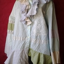 AKCIO vintage zöldcsikos  blúz, Kimeríthetetlen lehetőségeket tartogat ez a sti...