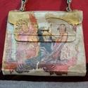 ujragondolt táska nők, Ruha, divat, cipő, Táska, Válltáska, oldaltáska, Ujragondolt táska feketéből átalakítva. Egyedi kézműves termék., Meska