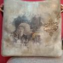 vitage táska monro, Táska, Ruha, divat, cipő, Válltáska, oldaltáska, Ujragondolt táska. Feketéből alakítottam vintagere. Egyedi termék, Meska