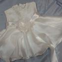 keresztelő alkalmi ruha donna, 68-74méret Törtfehér Brok?t mintás szatén fel...