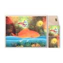 Felhőmese, Képzőművészet, Baba-mama-gyerek, Gyerekszoba, Baba falikép, Nyomat fatáblán, akasztóval (15x20 cm méretben), Meska