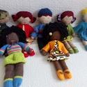 kézműves babák, Baba-mama-gyerek, Játék, Baba játék, Baba, babaház, Egyedi, kézzel varrt öltöztetős babák. Igazi hurcolhatós, alvó- és játszótárs. Mérete: k..., Meska