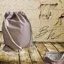 Rózsaszín lyukacsos műbőr tornazsák virágos béléssel, Táska, Tarisznya, Hátizsák, Rózsaszín/lazac lyukacsos műbőr tornazsák,  virágos minőségi designer pamutvászon bélésse..., Meska