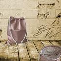 Metalrose Tornazsák, Táska, Hátizsák, 40*45cm-es lyukacsos metál rózsaszín textilbőrből készült tornazsák csillogó metálrózsasz..., Meska