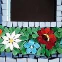 Virágköltemény - mozaik tükör 20% AKCIÓ!, Dekoráció, Otthon, lakberendezés, Képkeret, tükör, Dísz, Üvegművészet, MÁRCIUSBAN MINDEN TERMÉK 20%-KAL OLCSÓBBAN!  VÁSÁRLÁS ELŐTT, KÉRLEK ÍRJ ÜZENETET, HOGY ÁTÁLLÍTHASSA..., Meska