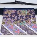 Kék-lila, batikolt, virágos, fesztivál övtáska, Táska, Ruha, divat, cipő, Baba-mama-gyerek, Válltáska, oldaltáska, Kék, kellemes tapintású, dekorszövetből  és kék-lila, batikolt, virág mintás, indonéz pamu..., Meska