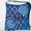 Kék, 2 mandala csipkés, gyöngyös, kék masnis, vintage válltáska , Táska, Baba-mama-gyerek, Ruha, divat, cipő, Válltáska, oldaltáska, Kék antik csipkékből készítettem, ezt a vintage táskát, amely gyönyörű kiegészítője lehet bármely nő..., Meska