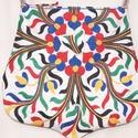 Kézzel hímzett színes, virágos, Frida nagy méretű válltáska, Táska, Divat & Szépség, Gyerek & játék, Táska, Válltáska, oldaltáska, Bézs dekorszövetből és kézzel hímzett, színes vintage terítőből készült, különleges, íves formájú, n..., Meska
