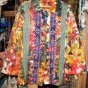 Színes, batikolt, hosszú ujjú blúz M-L, Táska, Divat & Szépség, Női ruha, Ruha, divat, Blúz, Színes, batikolt, pamutvászonból készült, hosszú ujjú, galléros blúz. Eleje végig, behúzott gombokka..., Meska