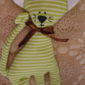 Patrik - zöld-fehér csíkos cica, Patrik egy üde tavaszi-zöld csíkos, vidám cicu...