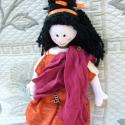 Jocasta a római lány baba!, Játék, Baba játék, Plüssállat, rongyjáték, Jocasta a múltból érkezett, egyenesen az ókorból, Rómából. Három rétegű ruhája a korabeli viseleti s..., Meska