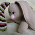Meggymagos babzsák nyuszi (Beanbag bunny), Nyuszkó (32 cm a talpától a füle búbjáig mé...