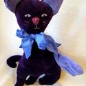 Lila szárnyas plüss cica, A lila cicus Somogyi Andrea kérésére készült ...
