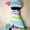 Csíkos aqua cica, Ez a vidám cica színvilágával a nyári tengerp...