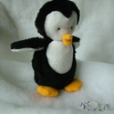 Lorka a pingvin - Lorka plush penguin, Játék, Plüssállat, rongyjáték, Most, hogy jön a tél a pingvinek is otthonosabban érzik magukat, bár a hó még hiányzik egy kicsit ne..., Meska