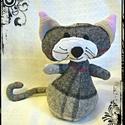 Lajcsi - Meggymagos babzsák marok cica, Lajcsi a kiscica Lajkó kistesója (19 x 12 cm) gy...