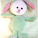 Minty - Puha nyuszi - Bunny softie, Játék, Plüssállat, rongyjáték, Ez a nyuszi pihe-puha, bundája is lágy és könnyű. 35 cm a talpától a füle búbjáig mérve, 25 cm a fej..., Meska