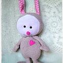 Peanut - Puha nyuszi - Bunny softie, Játék, Plüssállat, rongyjáték, Ez a nyuszi pihe-puha, bundája is lágy és könnyű. 35 cm a talpától a füle búbjáig mérve, 25 cm a fej..., Meska
