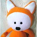 Karotka - Puha róka - Fox softie, Játék, Plüssállat, rongyjáték, Ez a róka pihe-puha, bundája is lágy és könnyű. 25 cm a talpától a feje búbjáig mérve, a keze kitárv..., Meska