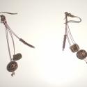 Divatos fülbevaló, Ékszer, Fülbevaló, Divatos fülbevaló, melyben bronz színek dominálnak., Meska