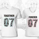 Together Forever, Esküvő, Ruha, divat, cipő, Nászajándék, Női ruha, Fotó, grafika, rajz, illusztráció, Egyedi, személyre szabott minta! A számpár, ami szabadon megadható (itt pl. 07), jelentheti összejö..., Meska