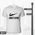 Just Gym - kondi póló, Férfiaknak, Ruha, divat, cipő, Férfi ruha, Urban pólók, Fotó, grafika, rajz, illusztráció, Ismert jelképből(pipa) vicces minta kondizóknak!  Méretegyeztetés a 3. kép alapján.  Színes pólóra ..., Meska