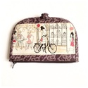 Lila kerékpár mintás pénztárca, A termék megnevezése: pénztárca.  Zsűrizett t...
