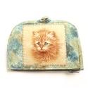 Vörös macska pénztárca, Táska, Pénztárca, tok, tárca, Pénztárca, Erszény, Patchwork, foltvarrás, Varrás, A termék megnevezése: pénztárca.  Zsűrizett termék!    Színei: - kék - bézs - drapp - narancssárga ..., Meska