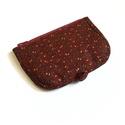 Bordó virág mintás pénztárca, A termék megnevezése: pénztárca.  Zsűrizett t...