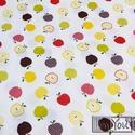 Apple - gumis lepedő kislányoknak, almás, Baba-mama-gyerek, Otthon, lakberendezés, Gyerekszoba, Falvédő, takaró, Varrás, Lepd meg Kislányod egy színes, almás lepedővel! Meglátod, alig várja majd, hogy belefekhessen...:-)..., Meska