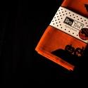ÚJ! LIMITÁLT kiadás - HALLOWEEN narancssárga asztalközép tökkel és denevérrel, kisterítő terítő, Dekoráció, Férfiaknak, Konyhafőnök kellékei, Varrás, Itt az ősz, és közeleg Halloween ünnepe... Rendezz egy felejthetetlen bulit! Dobd fel a terített as..., Meska