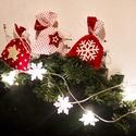 Piros fehér pöttyös Mikulás zsákok - karácsonyi ajándékzsák, Dekoráció, Ünnepi dekoráció, Karácsonyi, adventi apróságok, Adventi naptár, Ajándékzsák, Karácsonyi dekoráció, Csomagolópapír helyett rejtsd ajándékjaidat ezekbe a piros - fehér pöttyös vidám zsákokba! ..., Meska