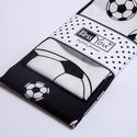 APA - FIA foci textil zsebkendő, fekete - fehér, Férfiaknak, Focirajongóknak, Varrás, Hímzés, FOCIRAJONGÓKNAK!!! Lepd meg Őket ezzel a fekete - fehér, focis menő puha pamut zsebkendő szettel, i..., Meska