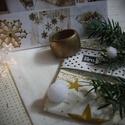 Merry Christmas feliratos antik arany textil szalvéta és gyűrű, Dekoráció, Ünnepi dekoráció, Karácsonyi, adventi apróságok, Karácsonyi dekoráció, Öltöztesd otthonodat a fehér és arany gyönyörű kombinációjába! Tedd ünnepivé az örömte..., Meska