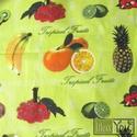 """AKCIÓS CSOMAG! Zöld trópusi gyümölcsös zsebkendő, Ruha, divat, cipő, Gyerekruha, Baba (0-1év), Válogasd össze egyedi szettedet az """"Akciós Polc""""-on található zsebkendők közül - ráadásul akciósan, ..., Meska"""