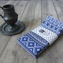 Skandináv kék csíkos textil szalvéta - 2 db, Dekoráció, Otthon, lakberendezés, Ünnepi dekoráció, Lakástextil, A skandináv stílus kedvelőinek készült ez a kék csíkos 100% pamut szalvéta. A rusztikus otth..., Meska