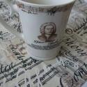 Szimfónia kottás textil szalvéta - 2 db, Dekoráció, Otthon, lakberendezés, Konyhafelszerelés, Lakástextil, A klasszikus zene kedvelőinek:) A textilszalvéták különleges, ötletes és egyedi díszei az asztalnak,..., Meska