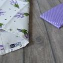 Levendulás textilzsebkendő szett - 3 darabos, Ruha, divat, cipő, Szépségápolás, Kendő, sál, sapka, kesztyű, A levendula kedvelőinek... A szett három darab zsebkendőt tartalmaz: egy drappot, valamint egy fehér..., Meska