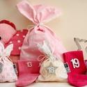 PINK, rózsaszín királylányos ADVENTI kalendárium, naptár kislányoknak, Gyerek & játék, Gyerekszoba, INGYENES POSTA  Lepd meg Kislányodat ezzel az igazán lányos, rózsaszín fehér ezüst adventi naptárral..., Meska