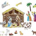 Karácsonyi, adventi színező gyerekeknek - Betlehemi jelenet, Dekoráció, Ünnepi dekoráció, Karácsonyi, adventi apróságok, Adventi naptár, Gyűjtsétek napról napra a Betlehemi jelenet figuráit, és készítsetek helyet karácsonyra a Ki..., Meska