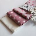 Mályva csillagok - rózsaszín pihe-puha csajszis zsebkendő, Ezek a kicsi zsebkendők a legkisebb zsebbe is bel...