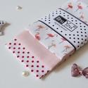 Miniflamingók - 3 darabos puha zsebkendő szett, FLAMINGÓ rajongóknak:) készítettem ezt a vidá...