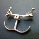 Libikóka gyűrű, Ékszer, óra, Gyűrű, Sterling ezüst Libikókázó gyerekek , dupla gyűrű. mérete állítható, Meska