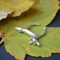 Róka gyűrű, Ékszer, Gyűrű,  925ös ezüstből készült gyűrű, rókát ábrázol.nyitott ezért mérete állítható. , Meska