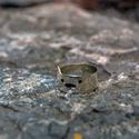 Macska gyűrű, Ékszer, óra, Gyűrű,   Cicafejet ábrázoló stering ezüst gyűrű., Meska