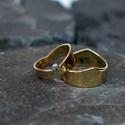 jegygyűrű pár, Ékszer, Gyűrű, Egyedi tervezésű jegygyűrű pár.  A képen látható sárgaaranyból van gyémántal. de rendelhető fehér-ro..., Meska