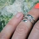 ujvég gyűrű, Ékszer, Gyűrű, Ujvégre készült sterling ezüst gyűrű, Meska