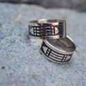 Atlantiszi gyűrűpár, Ékszer, Gyűrű, Sterling ezüst  Atlantiszi gyűrűpár, Meska