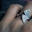 Ginkobiloba gyűrű, Ékszer, Gyűrű, Sterling ezüst Ginkobiloba gyűrű   a méret miatt kérem irjon üzenetet , Meska